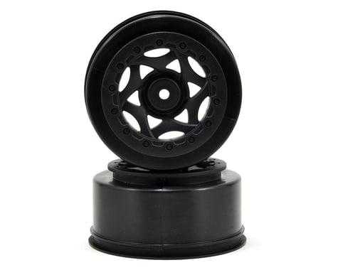 AKA 12mm Hex Cyclone Short Course Wheels (Black) (2) (22SCT/TEN-SCTE/SCT410)