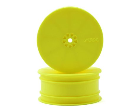 "AKA 12mm Hex ""HEXlite"" 2.2 4WD Front Wheels (2) (ZX6) (Yellow)"
