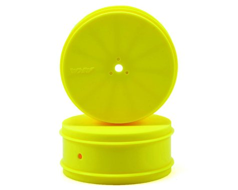 "AKA 12mm Hex ""EVO"" 4WD Front Wheels (2) (ZX6) (Yellow)"
