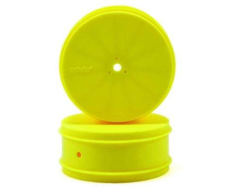 "AKA 9.5mm Hex ""EVO"" 4WD Front Wheels (2) (B44.2) (Yellow)"