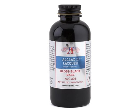 Alclad II Lacquers Gloss Black Base Airbrush Paint (4oz)