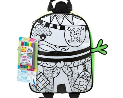 Alex Toys  Color A Back Pack Pirate
