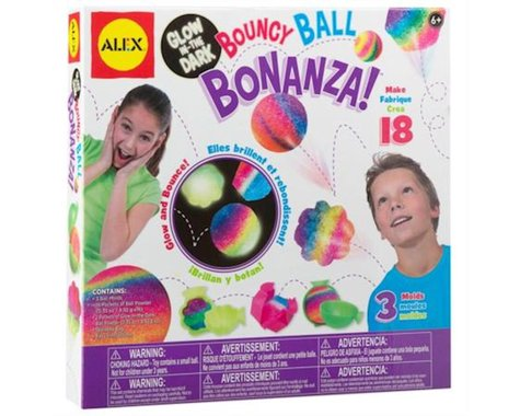 Alex Toys 951W Craft Glow In The Dark Bouncy Ball Bonanza