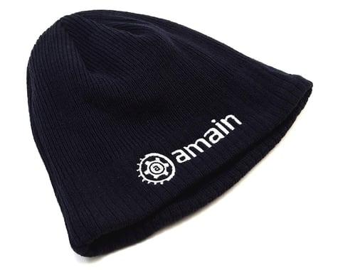 AMain Knit Cap Beanie w/White Gear Logo (Blue)