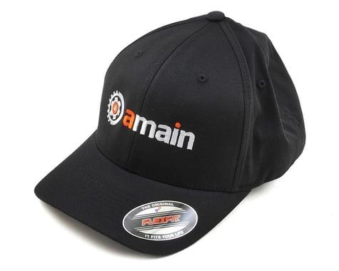 AMain FlexFit Hat w/Gears Logo (Black) (L/XL)