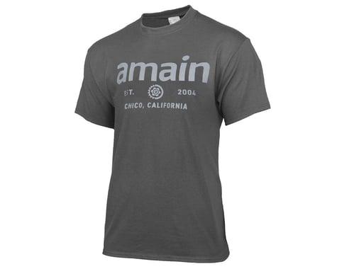 AMain Youth Short Sleeve T-Shirt (Charcoal) (Kids XL)