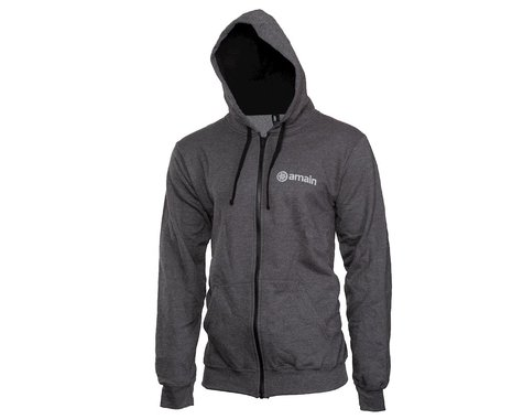 AMain Zip-Up Hoodie Sweatshirt (Dark Heather) (2XL)