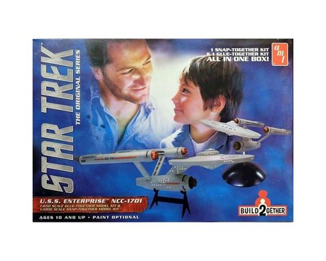 AMT 1/650 1/1000 Star Trek USS Enterprise Build2gether