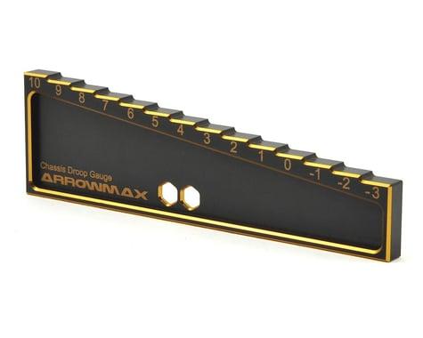 AM Arrowmax Black Golden 1/10 & 1/8 Car Chassis Droop Gauge (-3 ~ 10mm)