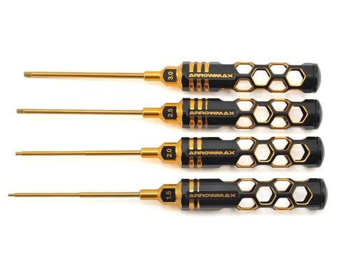 AM Arrowmax Black Golden Metric Allen Wrench Set (1.5, 2.0, 2.5 & 3.0mm)