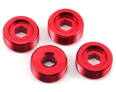 Arrma Aluminum Front Hub Nut (Red) (4)