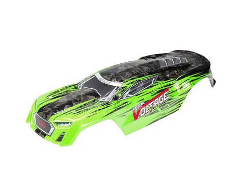 Arrma Painted Body with Decals, Green/Black: Fazon Voltage