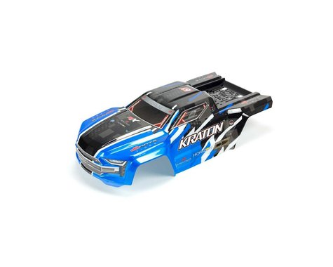 Arrma Kraton 6S BLX Painted Body with Decals Blue ARA406157