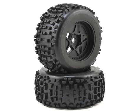 Arrma Dboots 'Back-Flip Mt 6S' Pre-Mounted Tires (Black) (2)