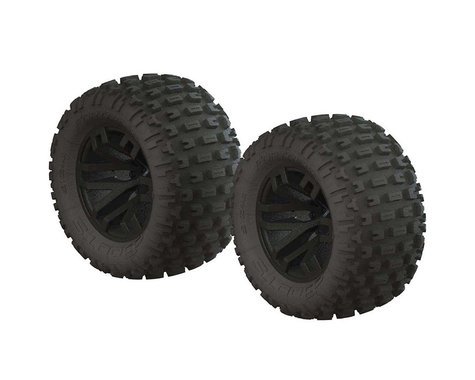 """Arrma dBoots """"Fortress MT"""" Monster Truck Pre-Mounted Tire Set (Black) (2)"""