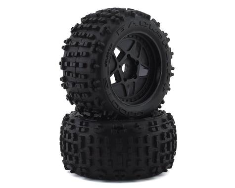 Arrma BLX 4x4 Backflip LP 4S 3.8 Pre-Mounted 1/8 Monster Truck Tires (Black) (2)