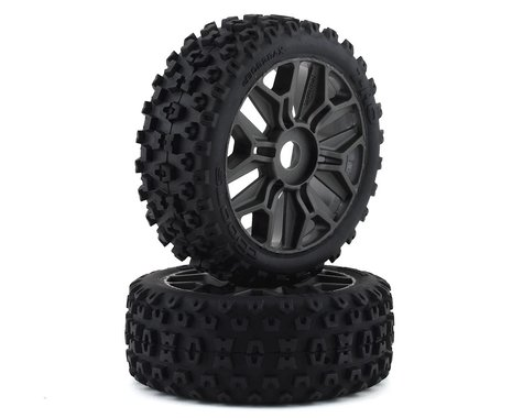 Arrma BLX 4x4 Dboots '2HO' 1/8 Pre-mounted Tire Set (Gun Metal) (2)