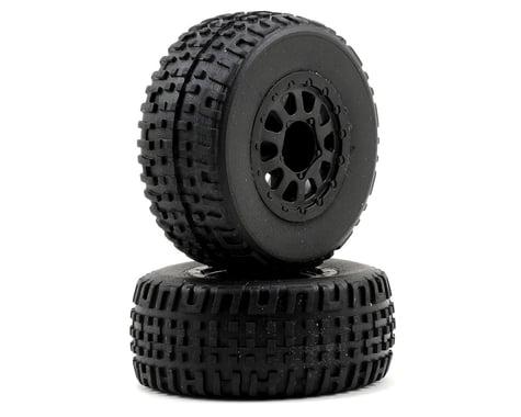 Team Associated SC18 Mounted Wheel & Tire Set (2)