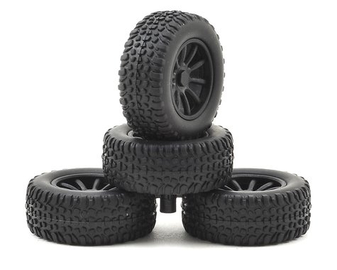 Associated Wheels/Tires Mounted SC28 ASC21426