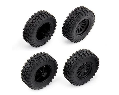 Team Associated MT28 Pre-Mounted Tires (4)