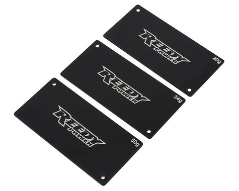 Reedy Steel Shorty LiPo Battery Weight Set (20g, 34g, 50g)