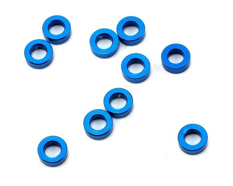 Team Associated 5.5x2.0mm Aluminum Ball Stud Washer (Blue) (10)