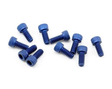 Team Associated 4-40 Aluminum Socket Head Hex Screw (Blue) (10)