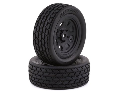 Team Associated SR10 Pre-Mounted Street Stock Tires w/Front Wheels (2)