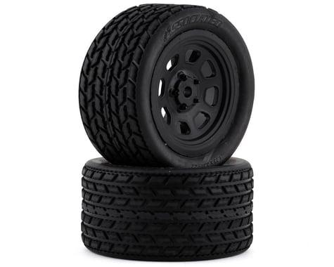 Team Associated SR10 Pre-Mounted Street Stock Tires w/Rear Wheels (2)