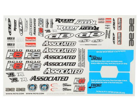Team Associated RC10F6 Decal Sheet