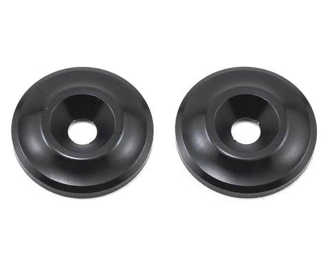 Team Associated Factory Team Aluminum Wing Buttons (Black)