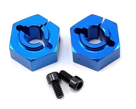 Team Associated 12mm Aluminum Rear Clamping Wheel Hex Set (Blue) (2)