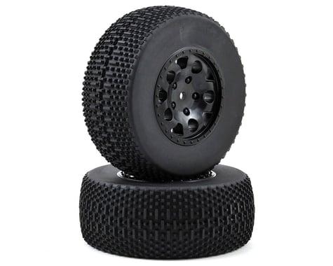 Team Associated 12mm Hex Pre-Mounted KMC SC Tire & Wheel (2) (Black)