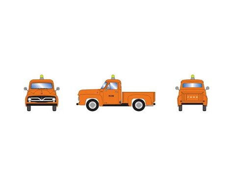 Athearn HO RTR 1955 Ford F-100 Pickup, Orange/MOW