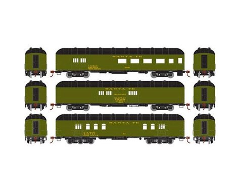 Athearn HO RTR Arch Roof Set, SF (3)