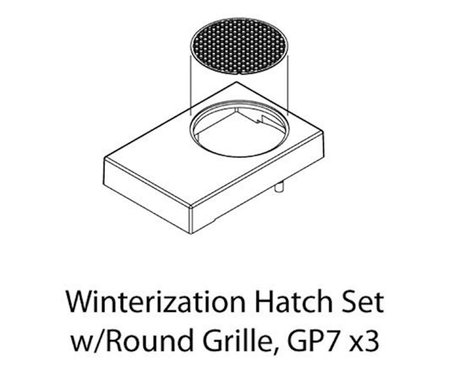 Athearn HO Winterization Hatch Set w/Round Grille, GP-7(3)