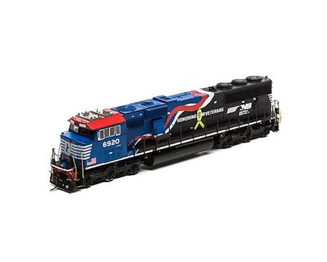 Athearn HO SD60E w/DCC & Sound,NS/Honor Our Veterans #6920