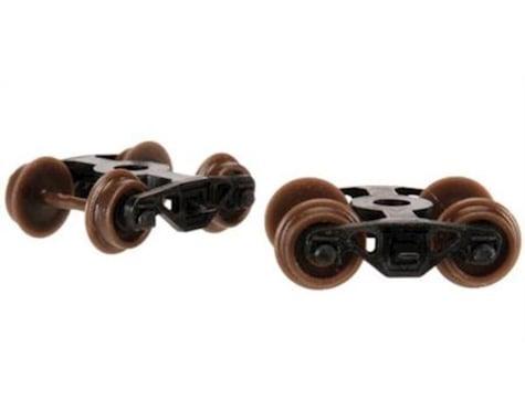 Atlas Railroad N Caboose Roller Bearing Trucks (1Pr/Set) (12Sets/
