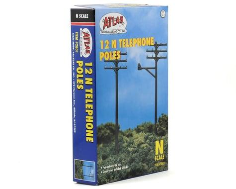 Atlas Railroad N-Scale Telephone Poles (12)