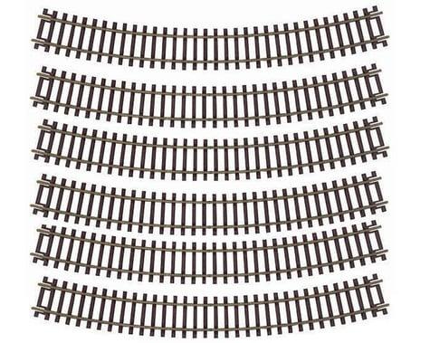 "Atlas Railroad HO-Gauge Code 83 Snap-Track 18"" Radius Curve (6)"
