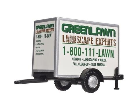 HO Box Trailer w Single Axle GreenLawn Landscaping