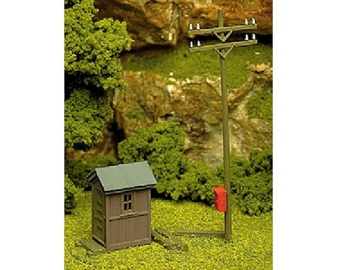 Atlas Railroad HO KIT Telephone Shanty & Pole