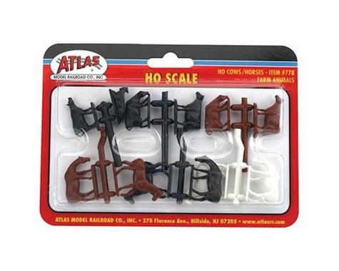 Atlas Railroad HO Cows & Horses (12)