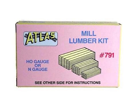 Atlas Railroad HO Stacked Mill Lumber
