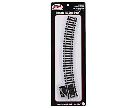 "Atlas Railroad HO-Gauge Code 100 Snap-Track 18"" Radius Curve Terminal"