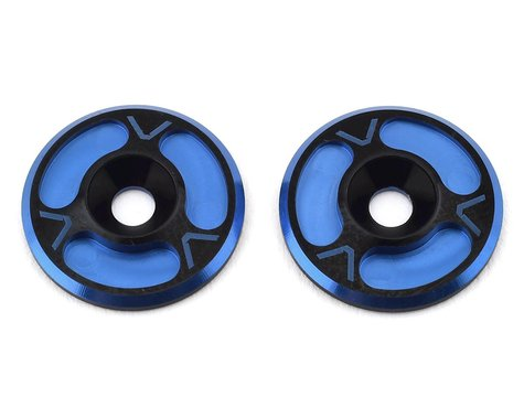 Avid RC Triad HD Wing Mount Buttons (2) (Black/Blue)