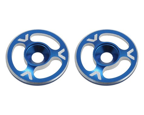 Avid RC Triad Wing Mount Buttons (2) (Blue)
