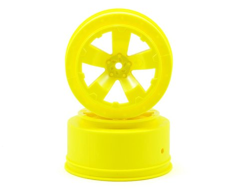 Avid RC Sabertooth Short Course Wheels w/3mm Offset (Yellow) (2) (SC5M)