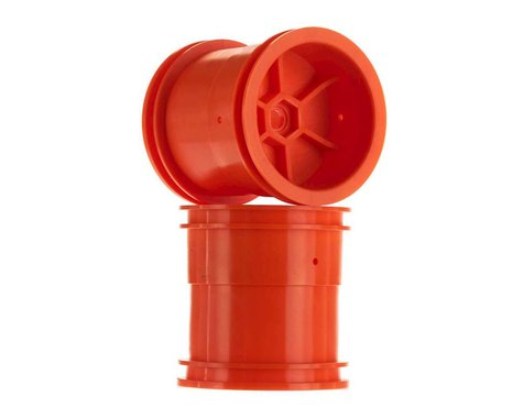 "Axial 2.2"" 63mm Monster Truck Wheels (Orange) (2)"