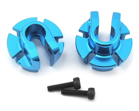 Axial 12mm Aluminum Shock Spring Retainer (Blue) (2)